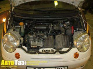 Газ на Daewoo Matiz.