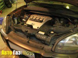Газ на Hyundai Tucson 2.7.