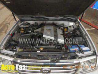 Газ на Toyota Land Cruiser 100.