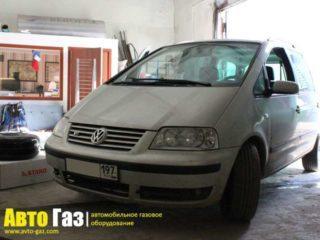Газ на VW Sharan VR6.