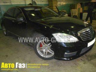 ГБО на Mercedes Benz S500.